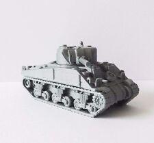 WW2 1/72 Scale American M4 Sherman Medium Tank - High Quality 3D Printed Tank