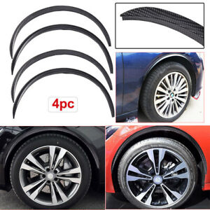 4PCS Car Wheel Eyebrow Arch Trim Lips Fender Flares Protector Carbon Fiber 730mm