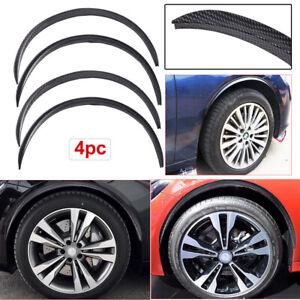 4PCS Car Wheel Eyebrow Arch Trim Lips Fender Flares Protector Carbon Fiber 730mm