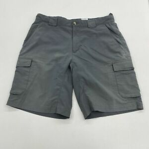 Columbia XCO Hiking Shorts Mens 34 Gray Flat Front Lined Cargo Pocket Outdoor