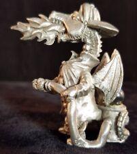 Gallo Firefighter Dragon Pewter Figurine