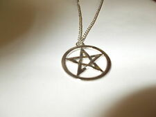 """WICCA - 5 Point Star - Mythical Pentagram - pentacle pendant & 18"""" Necklace"""