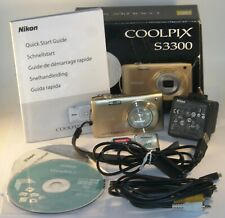 Nikon COOLPIX S3300 16.0MP Digital Camera - Gold