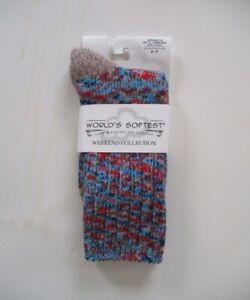 World's Softest Socks - Weekend Collection - Ragg - Harmony - Crew Length - NEW