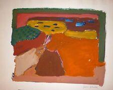 Juan ALCALDE ALONSO  gouache sur papier signée 1970 abstract art abstrait