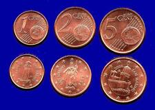 Kursmünzensatz 1-2-5 Cent San Marino 2006 Euro•Münze  KMS all Münzen  Eurosatz