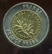 FRANCE  1 franc    monnaie européenne, Universel Bimétallique jeton