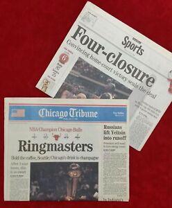 Chicago Bulls 1996 Chicago Tribune Championship ORIGINAL NEWSPAPER
