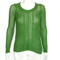 Sparrow Anthropologie Green Leaf Stem Knit Crewneck Sweater size Small /4864