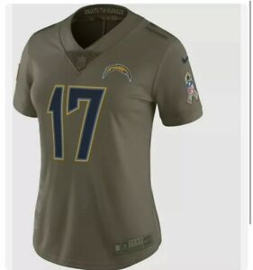 Nike Chargers Jersey Rivers #17 Stitched Salute To Service Wmns Sz L 882760-235