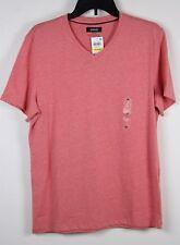 New Alfani T Shirt V Neck Coral Orange M Medium Mens