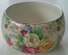 Chintz Rose Time Lord Nelson Ware Hard to Find Open Round Sugar Vintage 1940's