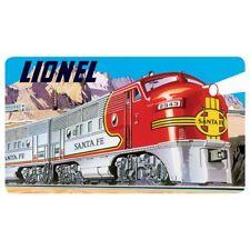 Lionel Santa Fe Embossed Tin Sign Gameroom Cabin Bar Garage 071