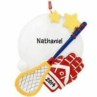 "Personalized "" Sports Lacrosse "" Christmas Hanging Tree Ornament HOLIDAY 2020"