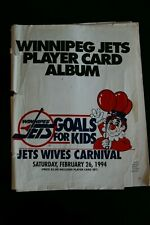 Winnipeg Jets 1994 Player card Album Wives Carnival Rare Thachuk Selanne Domi