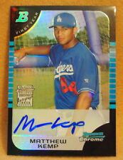 Matt Kemp 2005 Bowman Chrome REFRACTOR AUTO ROOKIE RC CARD PADRES DODGERS /500