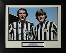 FRAMED Bob Moncur Newcastle United HAND SIGNED Autograph Photo Mount + COA