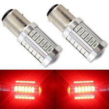 2pc 1157 BAY15D 5730 33SMD LED Car Auto Tail Stop Brake Backup Light Bulb Red