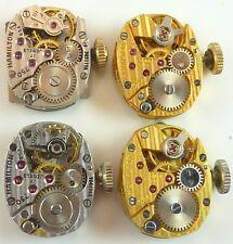 Lot of 4 Hamilton Lady's Wristwatch Movements 750, 750, 780, 780