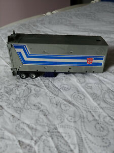 G1 Optimus Prime Metal Plate Trailer Excellent Condition With Grey Roller
