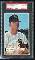 1964 Topps Giants Baseball #1 GARY PETERS Chicago White Sox PSA 8 NM-MT