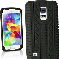 Black Tyre Silicone Gel Skin Case for Samsung Galaxy S5 MINI G800 Rubber Cover