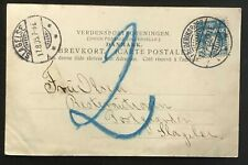 Denmark 1905. Domestic postcard. Postage due.