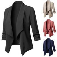Women Slim OL Suit Casual Blazer Jacket Coat Tops Outwear Long Sleeve Modern