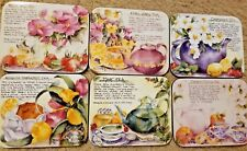 "6 Tea Time Coasters  By Jason 4.5"" x 3.75"" Artwork By Deborah K Ellis CorkBacked"