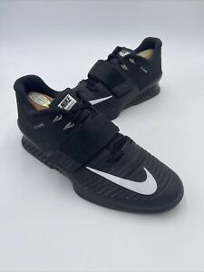 Nike Romaleos 3 Weightlifting Crossfit Training Shoe Black 852933-002 Size 10