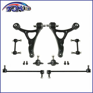 New Front Lower Control Arm Ball Joint Sway Bar Link Kit For 03-11 Volvo Xc90