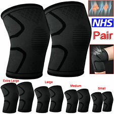 UK 2X Knee Sleeve Compression Brace Support For Sport Joint Pain Arthritis Relie