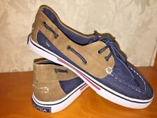 Nautica Brand New Top Sider Deck Boat Casual Denim Canvas Loafers Boys Shoe Sz 4