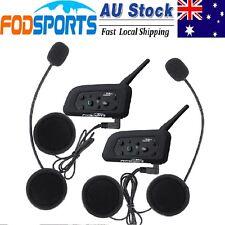 2x BT 1200M Motorcycle Helmet GPS Bluetooth Intercom Headset Interphone 6 Riders