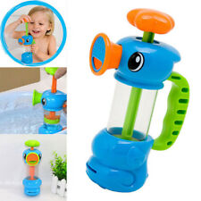 Baby Kids Bath Shower Swimming Pool Water Toys Duck Design Water Pump Toy Blue