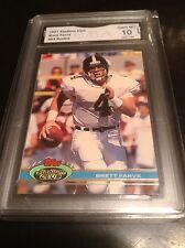 1991 Stadium Club Brett Favre Rookie Farve RC GMA graded 10
