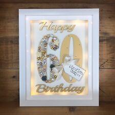 LED LIGHT BOX FRAME SPECIAL BIRTHDAY GIFT 30th 40th 50th 60th 70th Mum Sister