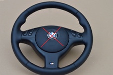 M3 M5 Steering Wheel BMW E46 E39 X5 E53 M3 M5 - BLACK stitch leather FUL NAPPA