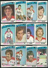 1976-77 OPC WASHINGTON CAPITALS GARNET BAILEY CARD #304 + 6 ROOKIES + 5 CARD LOT