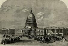 US Washington D.C. Capital building view 1859 Illustrated London News print