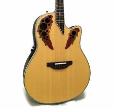 Ovation Custom Elite C2078AX Deep Contour Acoustic-Electric Guitar w/ Case