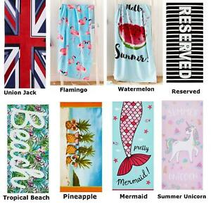 Catherine Lansfield 100% Cotton Soft Beach Towels Holiday Swimming Gym Towel