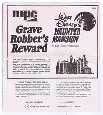 Haunted Mansion Mpc Model Instruction Sheet Vintage 1970's Walt Disney #5050