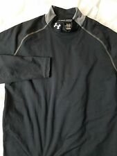 Under Armour Fitted mock neck Black shirt Size M Mens Fitted
