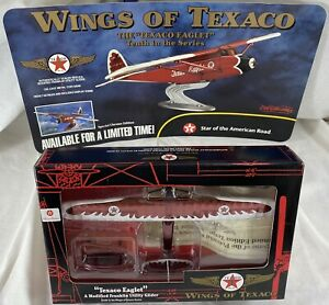 """🔥Factory Case Of 6 ERTL Wings Of Texaco Chrome """"Eaglet"""" Planes #10 MINT 🔥sb"""