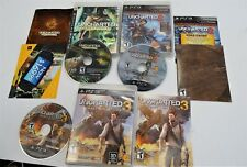 Uncharted 1,2, and 3 Collection PS3 PlayStation 3