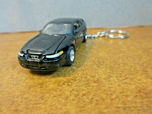 BLACK 1999 FORD MUSTANG GT  CUSTOM KEY CHAIN 1/64 SCALE