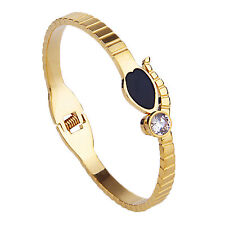 18k Gold Plated 316L Stainless Steel Snack Style with Swarkvski Element Crystal
