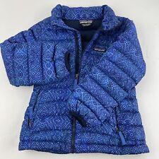 patagonia blue girls puffer down jacket sz XS 5-6 Lightweight Warm Shell