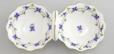 Vintage Herend Hungary Hand Painted Double Candy Dish Hors D'Oeuvres Server 253